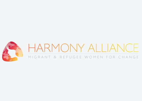 Harmony alliance - migrant and refugee women for change logo
